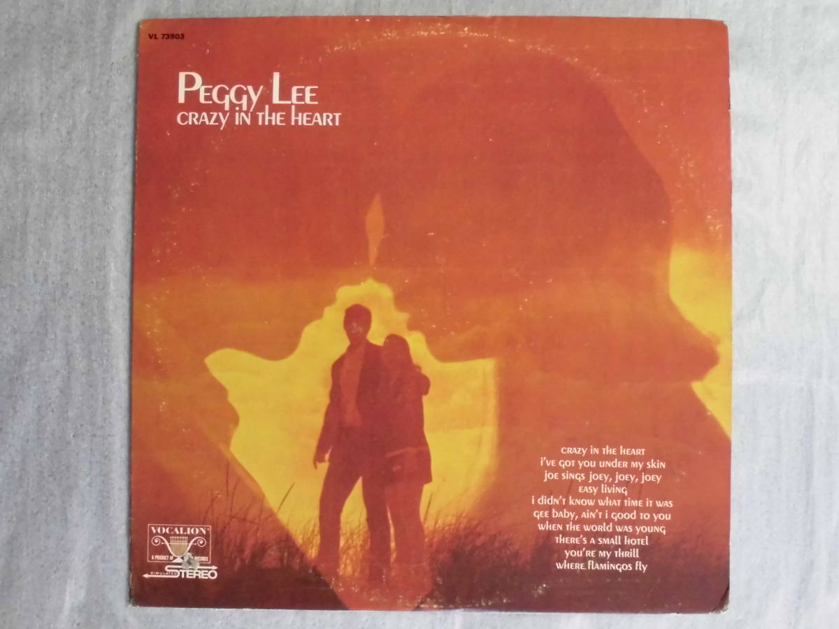 j-0921◆LP◆Jazz ペギー・リー/ Peggy Lee クレイジーインザハート=Crazy In The Heart  US盤 訳有品 送料380 _画像1