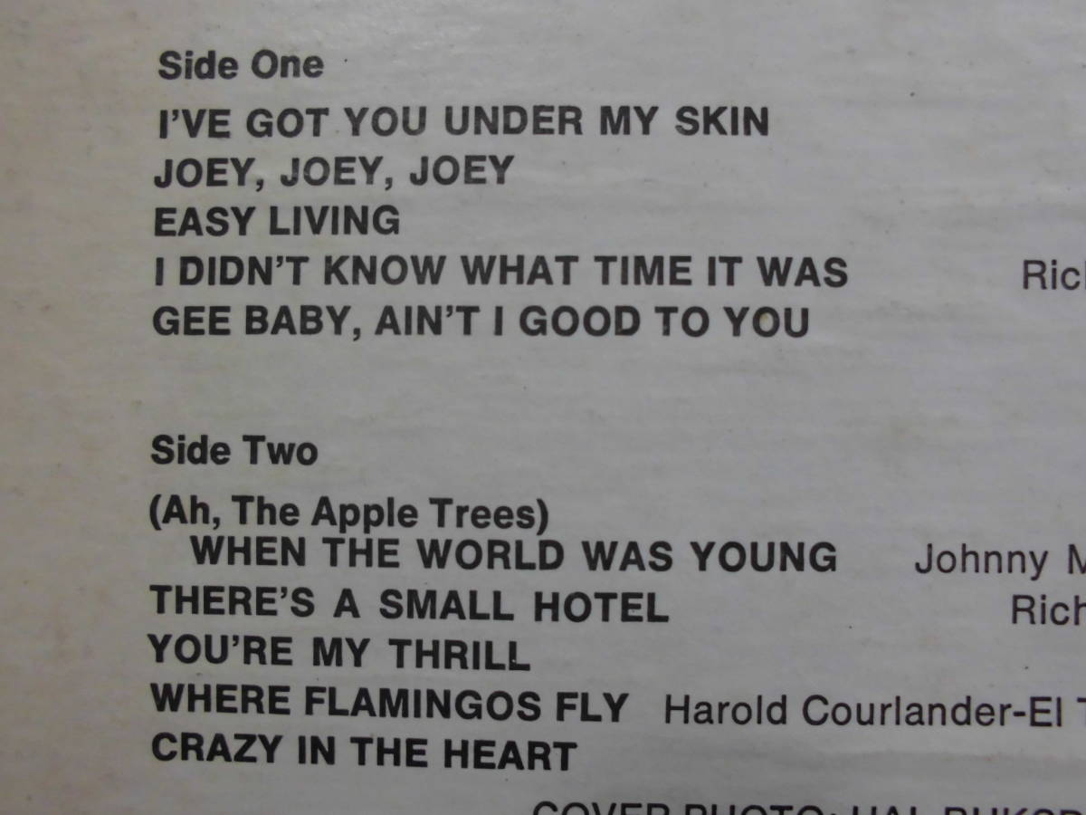 j-0921◆LP◆Jazz ペギー・リー/ Peggy Lee クレイジーインザハート=Crazy In The Heart  US盤 訳有品 送料380 _画像3