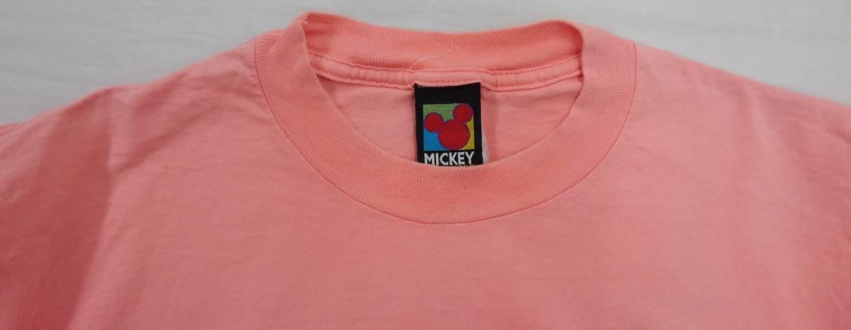 【激レア!!USA製】DISNEY Lサイズ ディズニー ミッキー アメリカ直輸入 Tシャツ ピンク 美品 古着 アメリカ製 #1248-A_画像6
