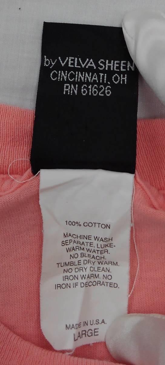 【激レア!!USA製】DISNEY Lサイズ ディズニー ミッキー アメリカ直輸入 Tシャツ ピンク 美品 古着 アメリカ製 #1248-A_画像9