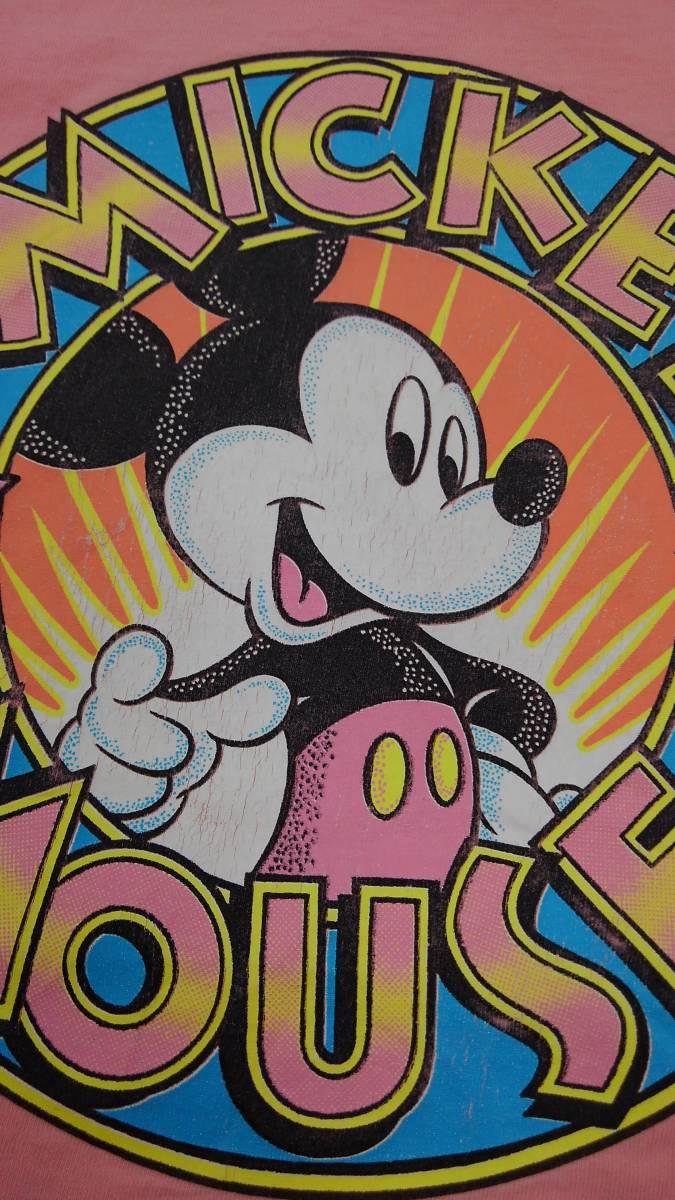 【激レア!!USA製】DISNEY Lサイズ ディズニー ミッキー アメリカ直輸入 Tシャツ ピンク 美品 古着 アメリカ製 #1248-A_画像4