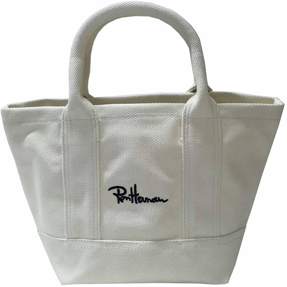 ミニトートバッグ 綿キャンバス 刺繍ロゴs