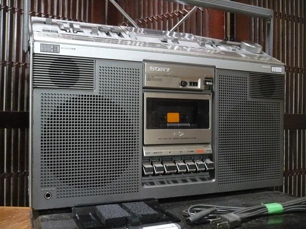 Винтаж SONY CFS-686 高級ステレオラジカセ 整備品 美品_画像3