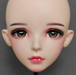 ★新品 美少女コスプレマスク黄い瞳 kigurumi MASK FPR製 ヘッド変身・変装二次元 美少女 等身 Dollマスク ハーフマスク★ _画像3