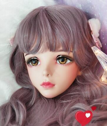 ★新品 美少女コスプレマスク黄い瞳 kigurumi MASK FPR製 ヘッド変身・変装二次元 美少女 等身 Dollマスク ハーフマスク★ _画像2
