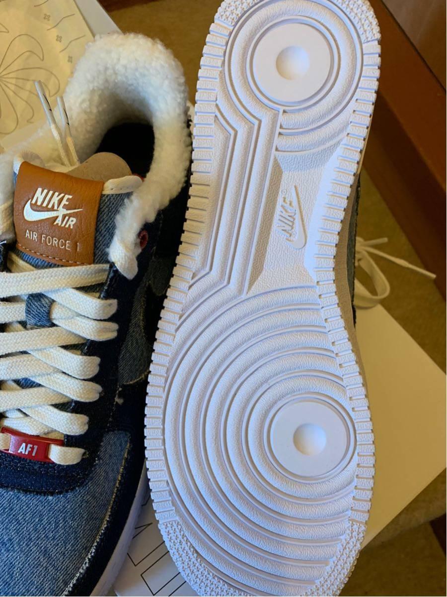 28.5cm Nike Air Force 1 Low エアフォース1 ロー Nike by you x LEVI'S リーバイス ナイキ NIKE ID デニム denim_画像6