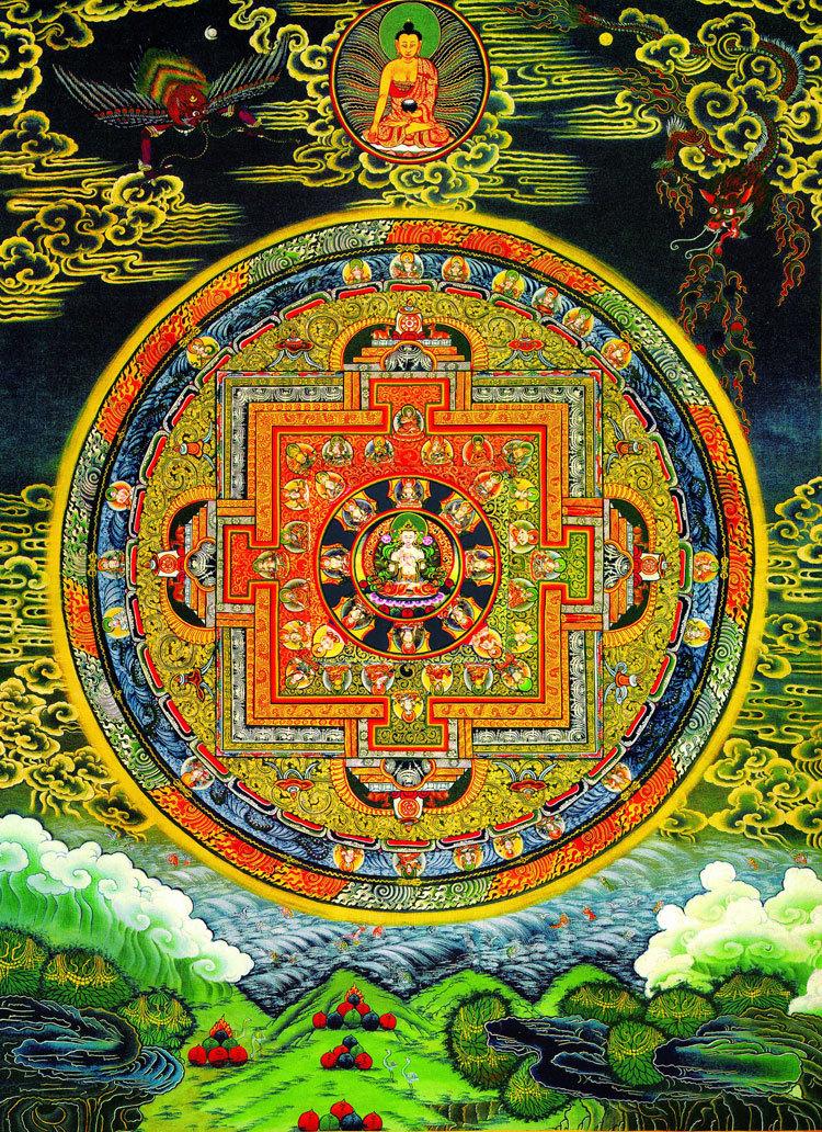 チベット仏教 曼荼羅 A4サイズ:297×210mm 仏画_画像1