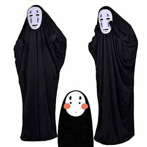 ■複数セール■ おひとり様1点まで! 千と千尋の神隠し コスプレ カオナシ (衣装、黒マスク、紫マスク、手袋) 4点セット サイズL サイズM_画像2