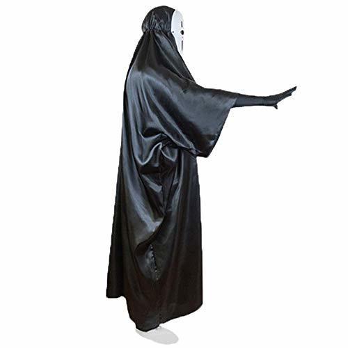 ■複数セール■ おひとり様1点まで! 千と千尋の神隠し コスプレ カオナシ (衣装、黒マスク、紫マスク、手袋) 4点セット サイズL サイズM_画像4