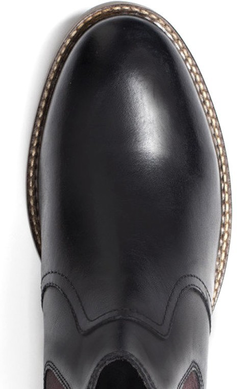 Base London 29cm ブーツ チェルシー ブラック 黒 レザー 革 サイドゴア プレーン ビジネス スニーカー チャッカ ビジネス H289_画像7