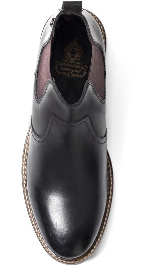 Base London 29cm ブーツ チェルシー ブラック 黒 レザー 革 サイドゴア プレーン ビジネス スニーカー チャッカ ビジネス H289_画像9