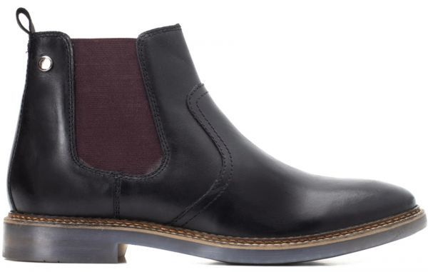 Base London 29cm ブーツ チェルシー ブラック 黒 レザー 革 サイドゴア プレーン ビジネス スニーカー チャッカ ビジネス H289_画像2