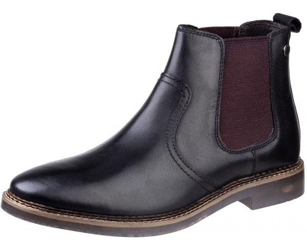 Base London 29cm ブーツ チェルシー ブラック 黒 レザー 革 サイドゴア プレーン ビジネス スニーカー チャッカ ビジネス H289_画像5
