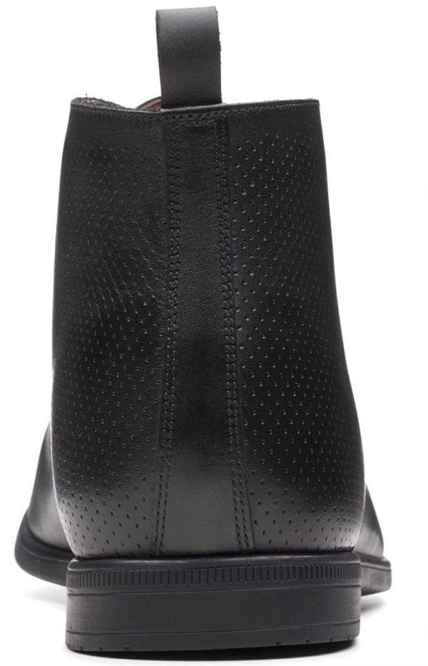 Clarks 27.5cm レースアップ ブラック 黒 レザー 革 フォーマル サイドゴア ブローグ ビジネス スーツ スリッポン スニーカー H287_画像3