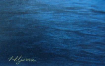居島春生【思い出は風になる】希少画集画、状態良好、新品高級額装付、送料無料、洋画 油彩 風景、山と湖、zero_画像2