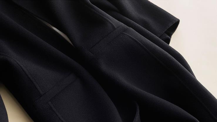 秋冬新作! ウール 両面カシミヤ レディース コート 立ち襟 ラシャ 簡素 カーディガン 隠しボタン 着心地のいい_画像2