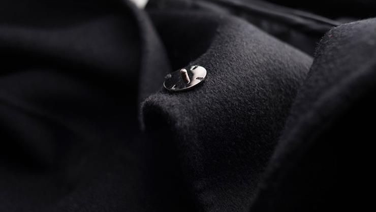 秋冬新作! ウール 両面カシミヤ レディース コート 立ち襟 ラシャ 簡素 カーディガン 隠しボタン 着心地のいい_画像3