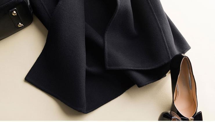 秋冬新作! ウール 両面カシミヤ レディース コート 立ち襟 ラシャ 簡素 カーディガン 隠しボタン 着心地のいい_画像5