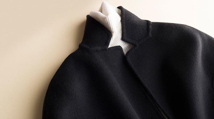 秋冬新作! ウール 両面カシミヤ レディース コート 立ち襟 ラシャ 簡素 カーディガン 隠しボタン 着心地のいい_画像6