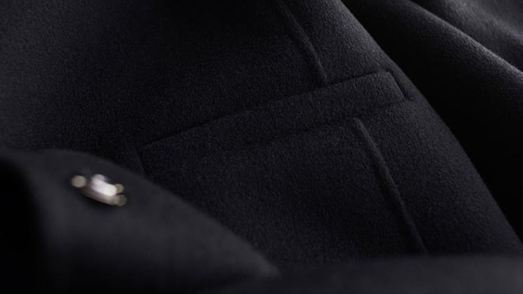 秋冬新作! ウール 両面カシミヤ レディース コート 立ち襟 ラシャ 簡素 カーディガン 隠しボタン 着心地のいい_画像7