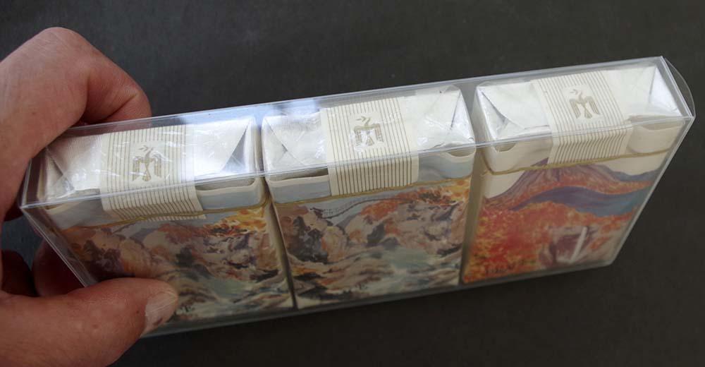 販促アド記念物1960~70sピースPeace古いタバコの空箱3点ケース入り「観光記念」陽明門・日光・煙草マニア必見!レトロ時代。_画像5