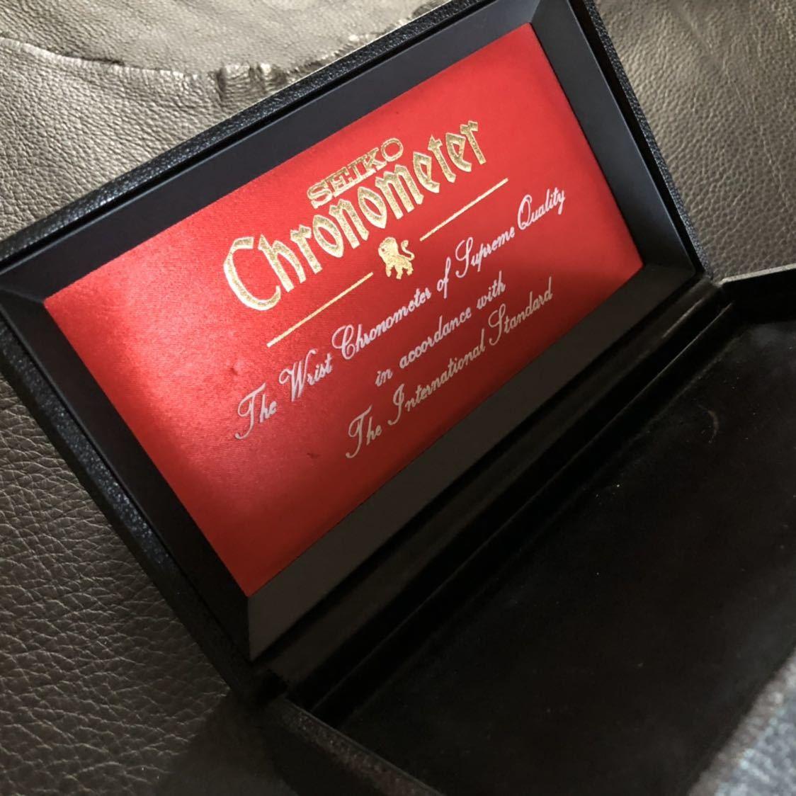 美品 SEIKO クロノメーター専用 腕時計化粧箱 当時物オリジナル品(外箱、敷地シート無し)_画像4