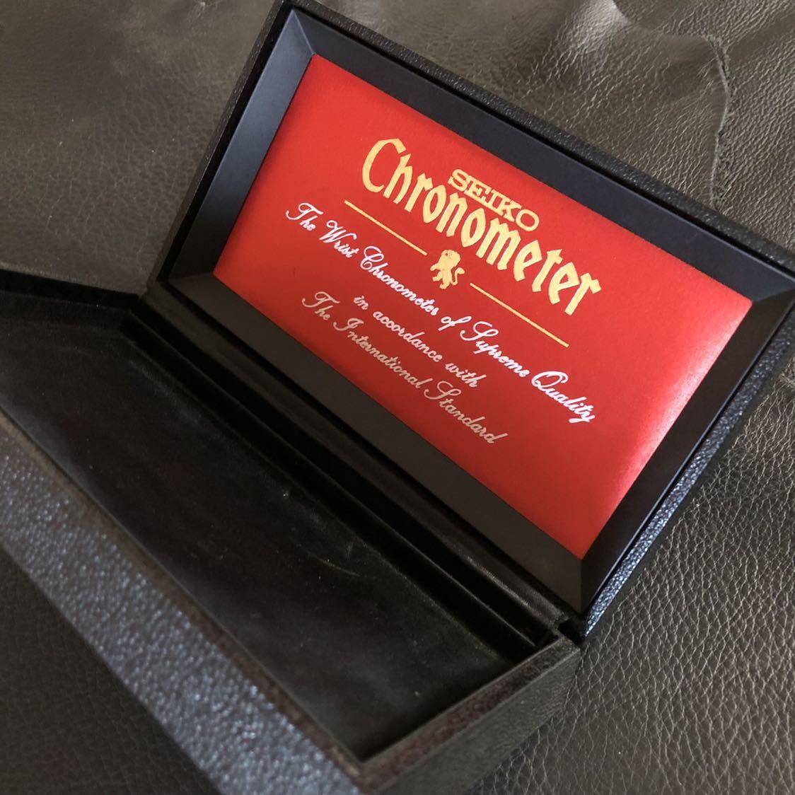 美品 SEIKO クロノメーター専用 腕時計化粧箱 当時物オリジナル品(外箱、敷地シート無し)_画像3
