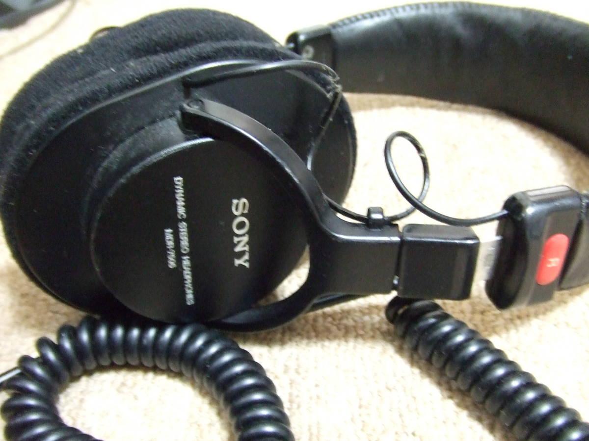 J506 SONY PROFESSIONAL スタジオモニター ヘッドホン MDR-7506 中古 _画像2