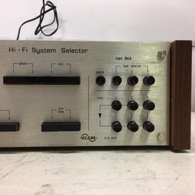 ELENA ELS-80A Hi-Fi System Selector システムセレクター _画像6