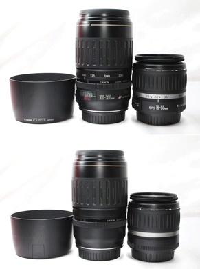 ★【新品級 ダブルレンズ スターターセット】 Canon EOS Kiss X7 ★ EF-S18-55mm II USM EF100-300mm USM ★豪華付属品 SD・取説つき_画像7