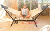xinsend - 簡易 ポータブル 戸外 ベランダ ブランコ 吊り椅子 リムーバブル 強荷重 設置簡易 快適 レジャーTLY423