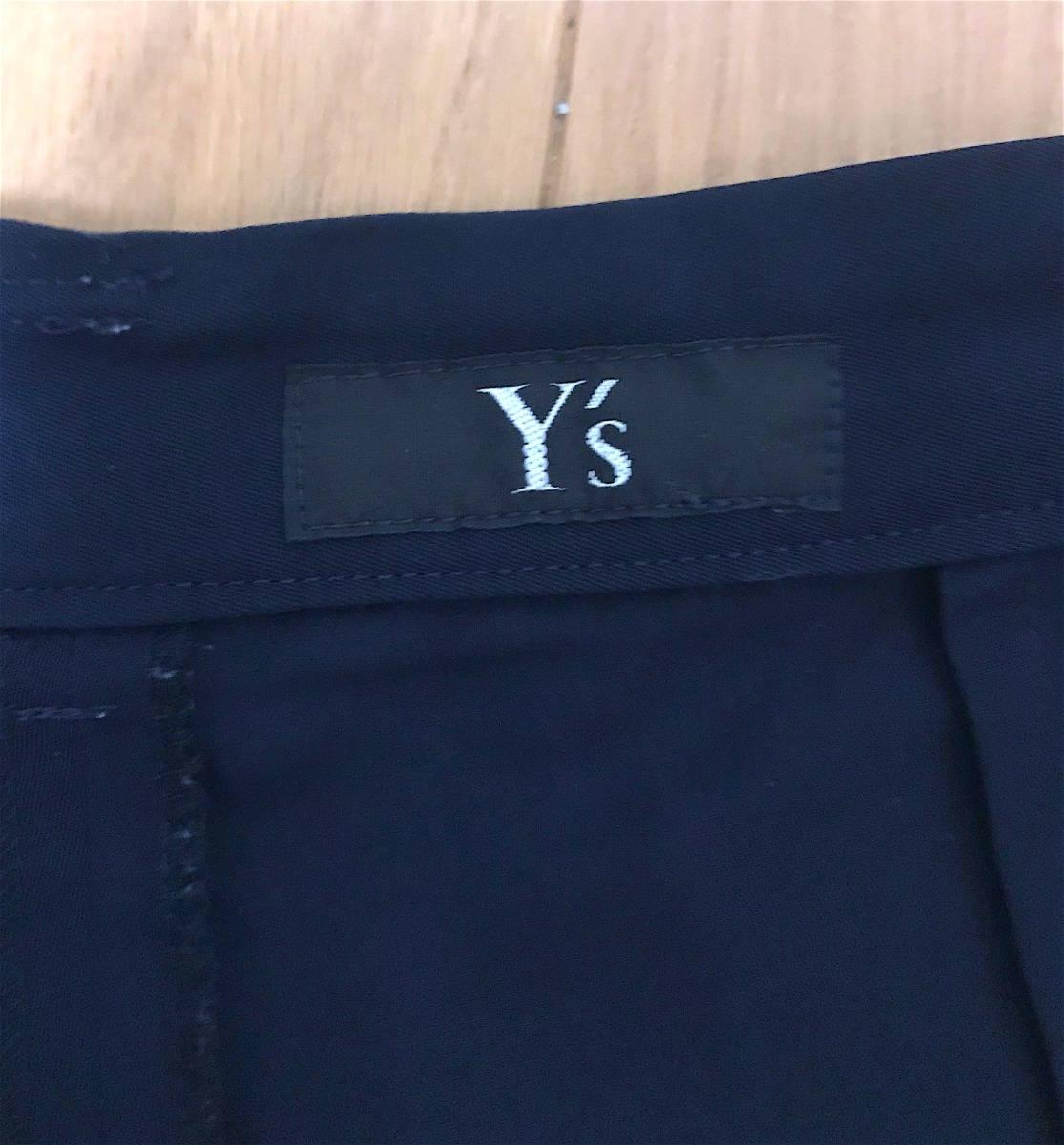 即決 セール yohji yamamoto y's ネイビー ワイドパンツ 袴パンツ サルエル バルーンパンツ ヨウジヤマモト プールオム y-3_画像4