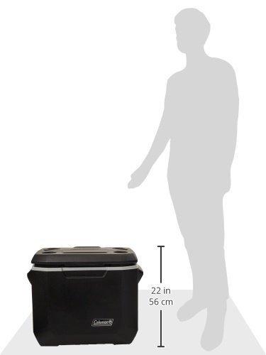 新品 送料込み!!【日本未発売】 Coleman コールマン 50QT XTREME ホイール付クーラーボックス 約47L 黒 アウトドア black 大容量 黒_画像5