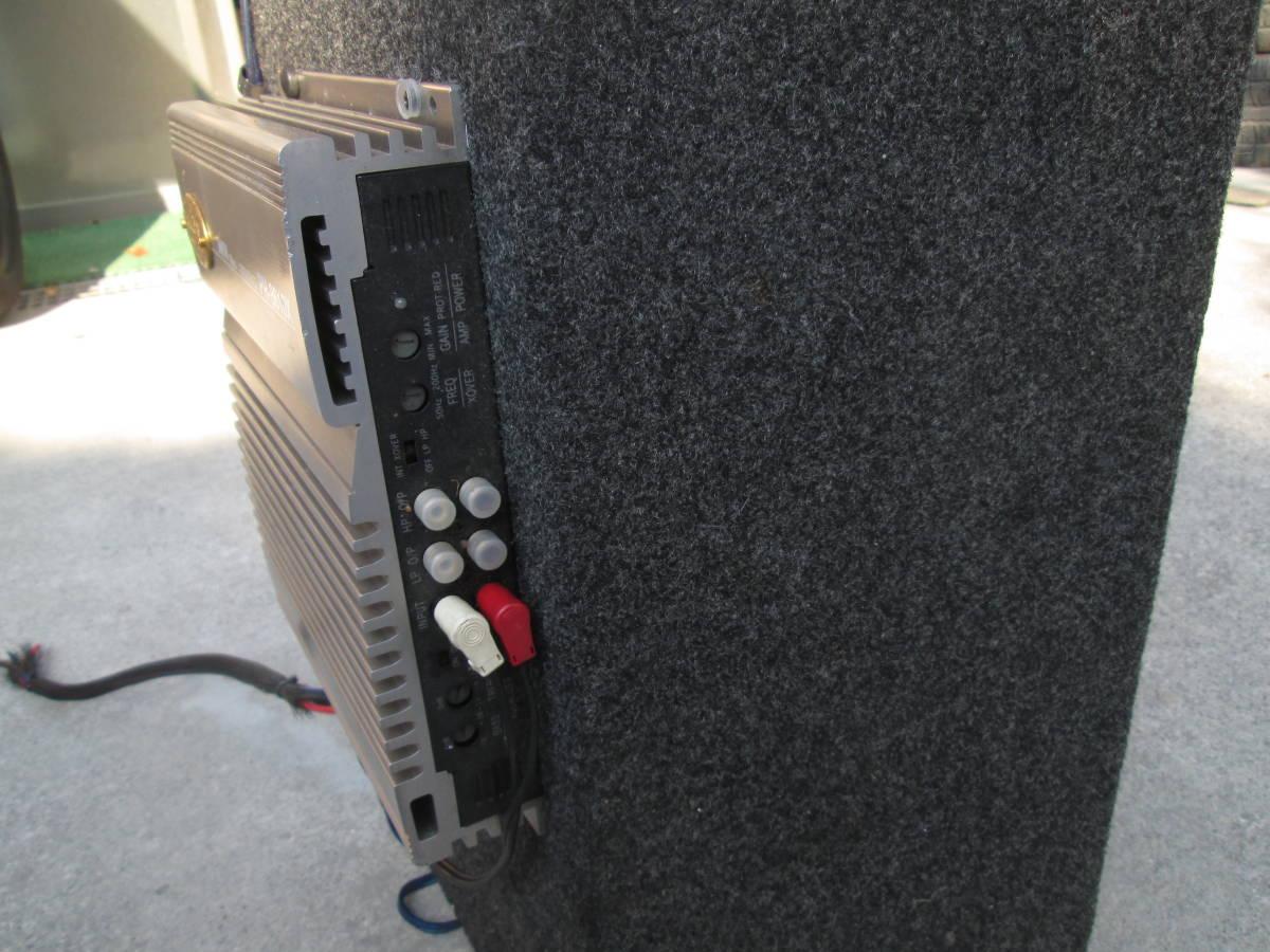 在庫処分!ロックフォード★ROCKFORDサブウーファー ウーハーボックス+TEKLINE300Wパワーアンプセット!低音重音スピーカー☆中古ジャンク品_画像10