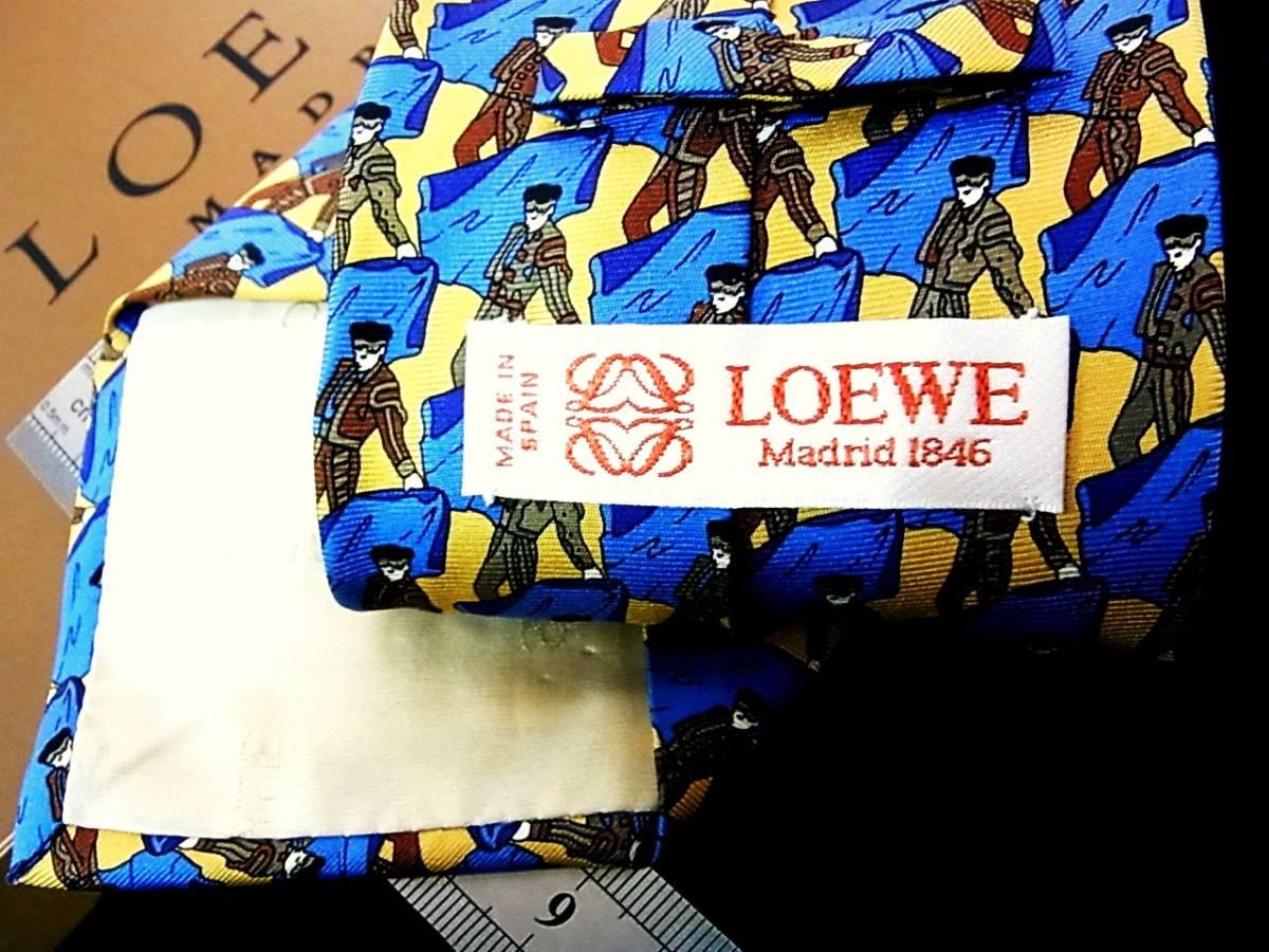 ★☆*:.*:K1299美品 【LOEWE】ロエベ【闘牛士】ネクタイ_画像2