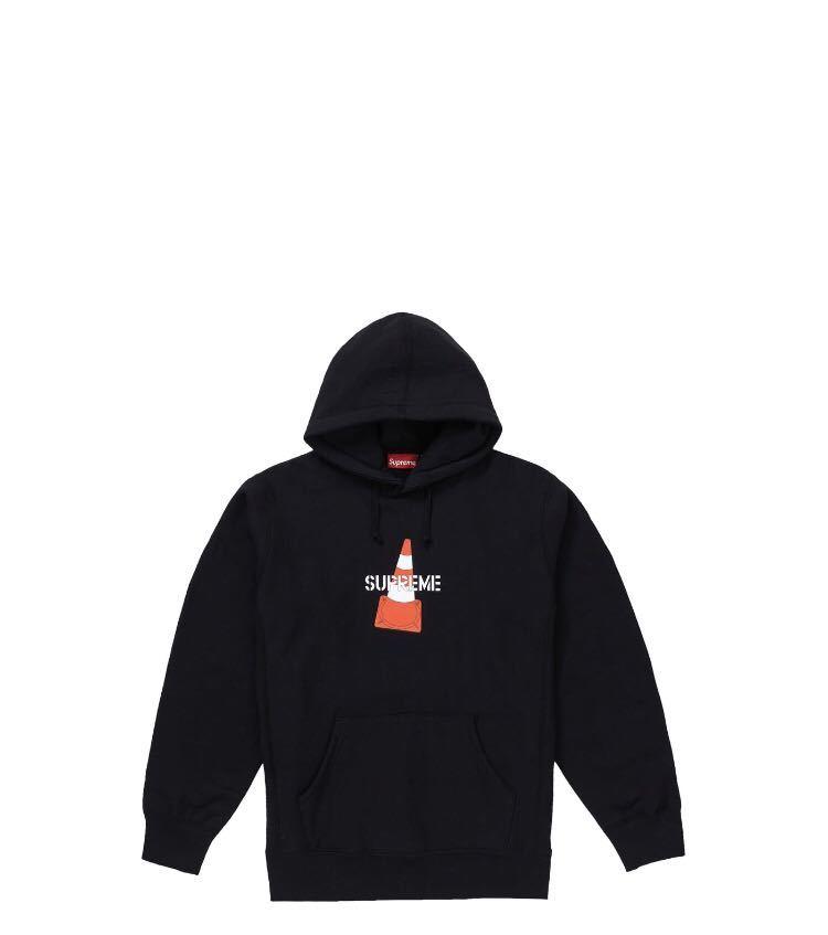 新品 SUPREME 19AW Week1 希少 XL Cone Hooded Sweatshirt Black シュプリーム パーカー ブラック コーン ロゴ