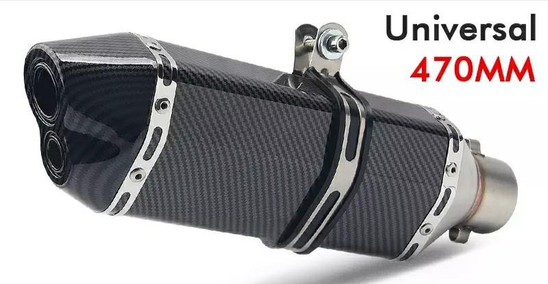 ★全国一律 送料2000円★ カーボンマフラー 差込径51mm スリップオン アルミ製マフラー 付属品付 CB XJR ZRX ZEPHYR ZZR GPZ YZF-R1 R6 R25_画像4