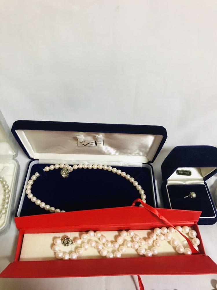CH049 真珠 ネックレス など まとめ 大量 セット イヤリング 指輪 ブレスレット レディース アクセサリー _画像3