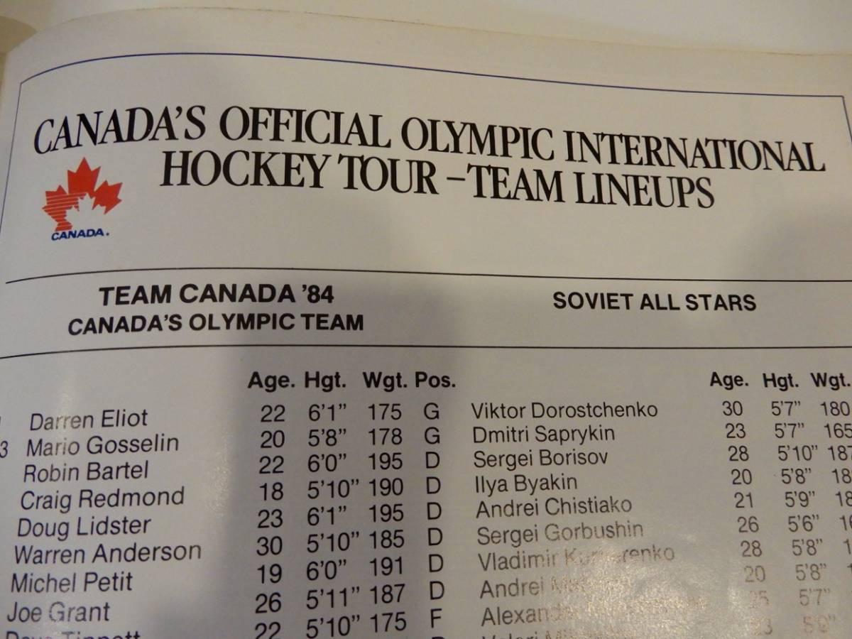 ▲▲アイスホッケー「Team Canada '84」カナダ、オリンピック、英語、洋書_画像4