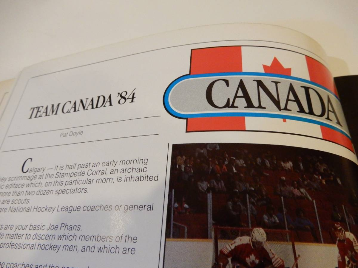 ▲▲アイスホッケー「Team Canada '84」カナダ、オリンピック、英語、洋書_画像3