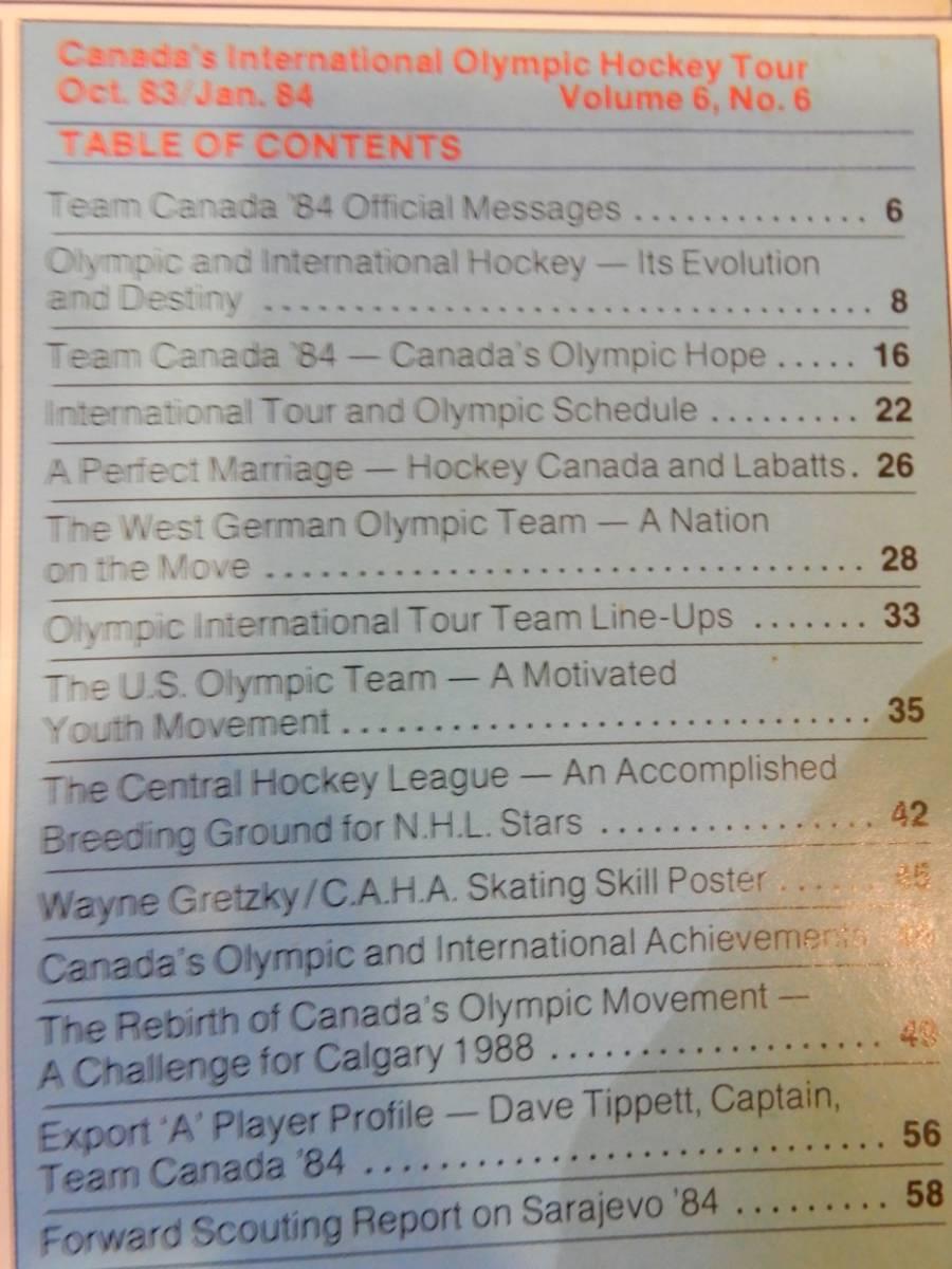 ▲▲アイスホッケー「Team Canada '84」カナダ、オリンピック、英語、洋書_画像2