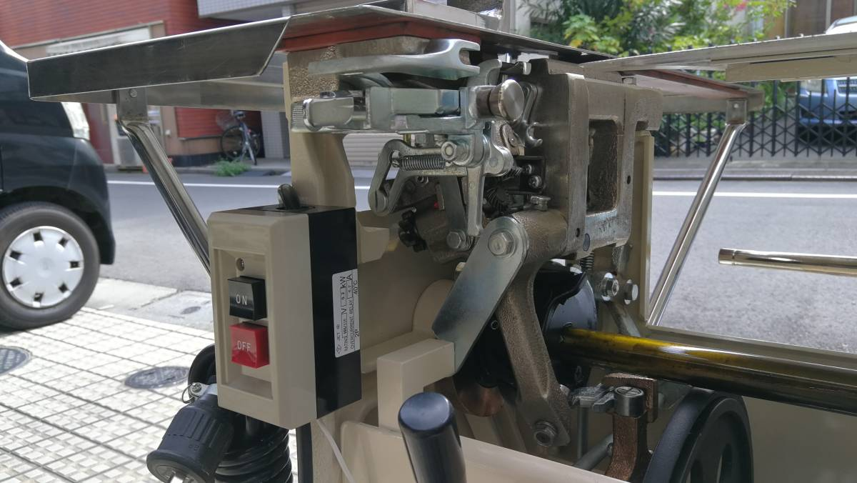 TOM結束機 中古Y60型 _クチバシ ボタン、ピニオンギア交換