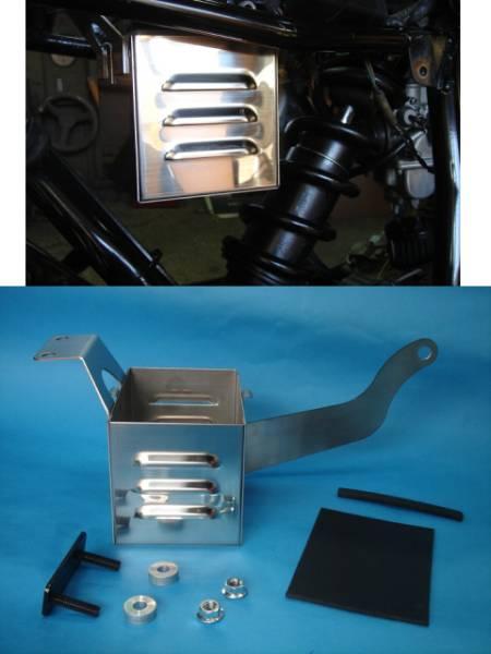 TW200 TW225 バッテリーケース ステン ルーバータイプ 小物入れ 電装BOXにも 純正バッテリーも搭載可能!_画像3