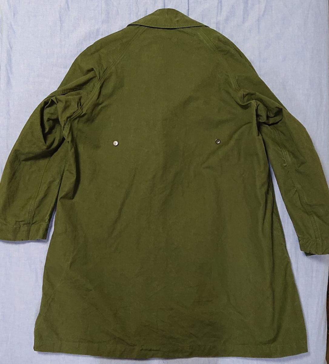 50~60'sビンテージ フランス軍ステンカラーコート タイロッケンコート アナトミカ好きな方に _画像2