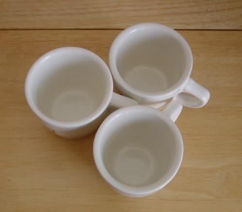 【中古】ミスタードーナツ☆ミスド 35周年限定 復刻版 コーヒーカップ マグカップ3個_画像3