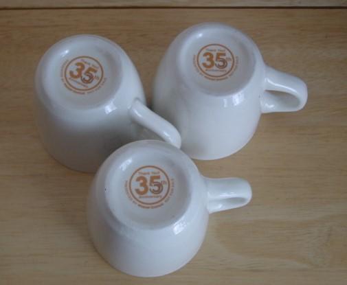 【中古】ミスタードーナツ☆ミスド 35周年限定 復刻版 コーヒーカップ マグカップ3個_画像4