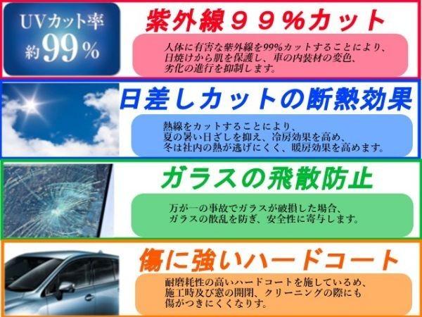 トヨタ ヴィッツ 5D SCP10 NCP10 NCP13 NCP15  5ドア用 リアセット 高品質 プロ仕様  3色選択 カット済みカーフィルム_画像3