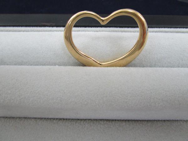 1013★cr★08.27 超希少! Tiffany&Co. ティファニー K18YG オープンハート ラージサイズ 750 総重量約13.1g