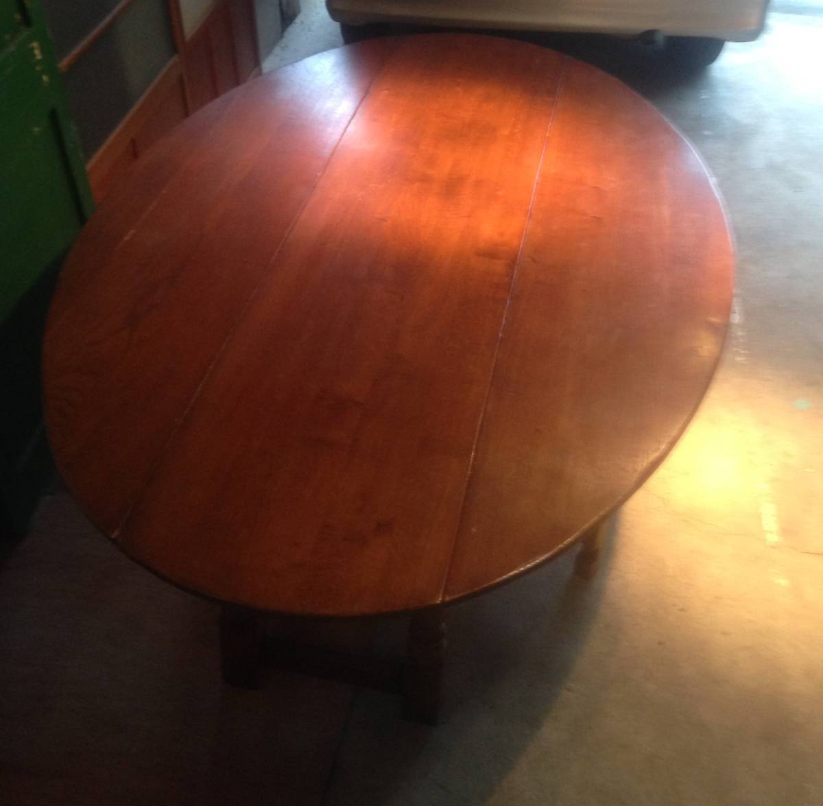 アンティーク調バタフライダイニングテーブルイギリス定番のゲートレッグテーブル食卓オーク無垢材クラシック引き取り歓迎直接渡し歓迎_画像6