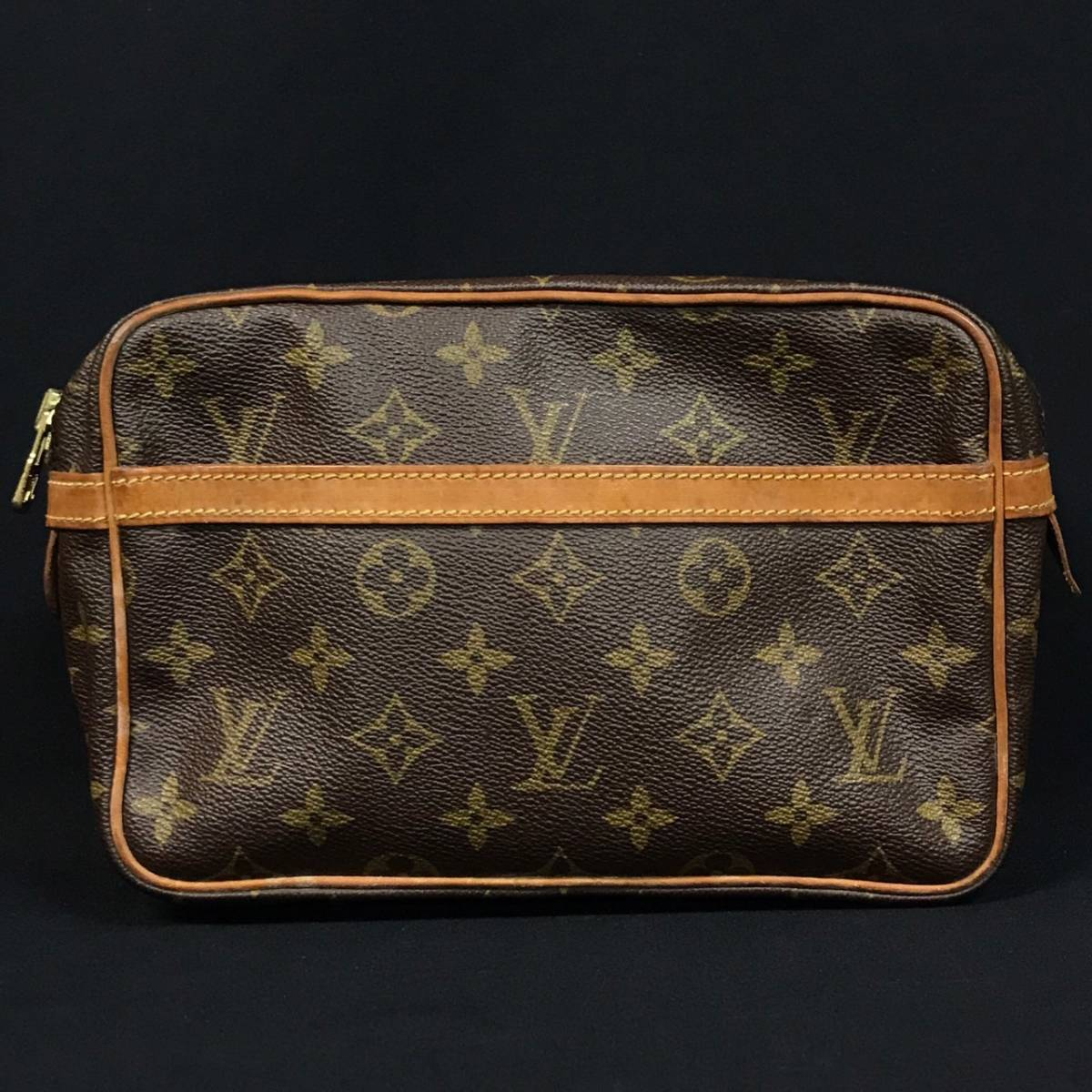 B19s02T LOUIS VUITTON ルイヴィトン モノグラム コンピエーニュ セカンドバッグ クラッチバッグ ポーチ レザー